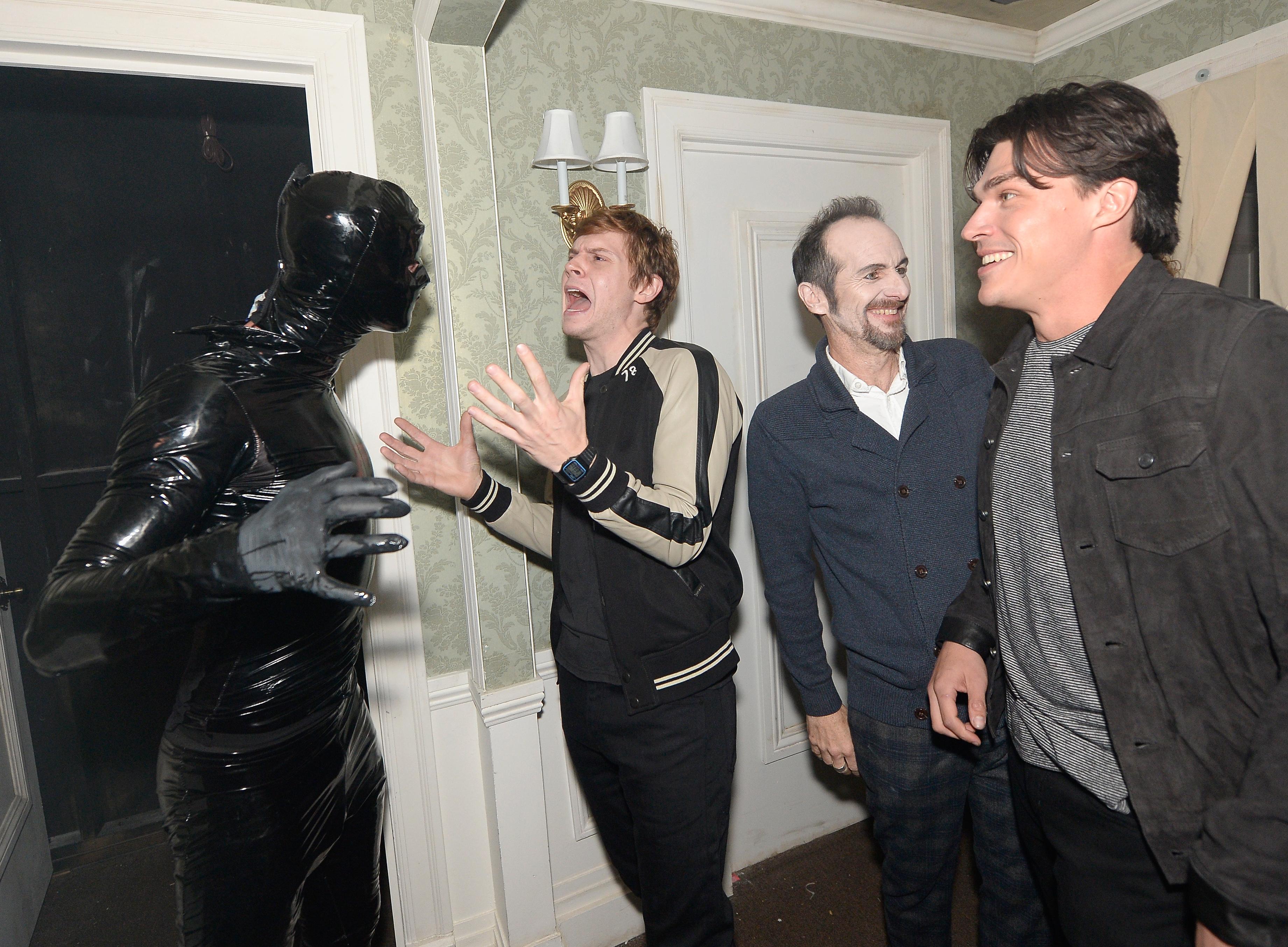 Evan Peters attend Universal Studios 'Halloween Ho