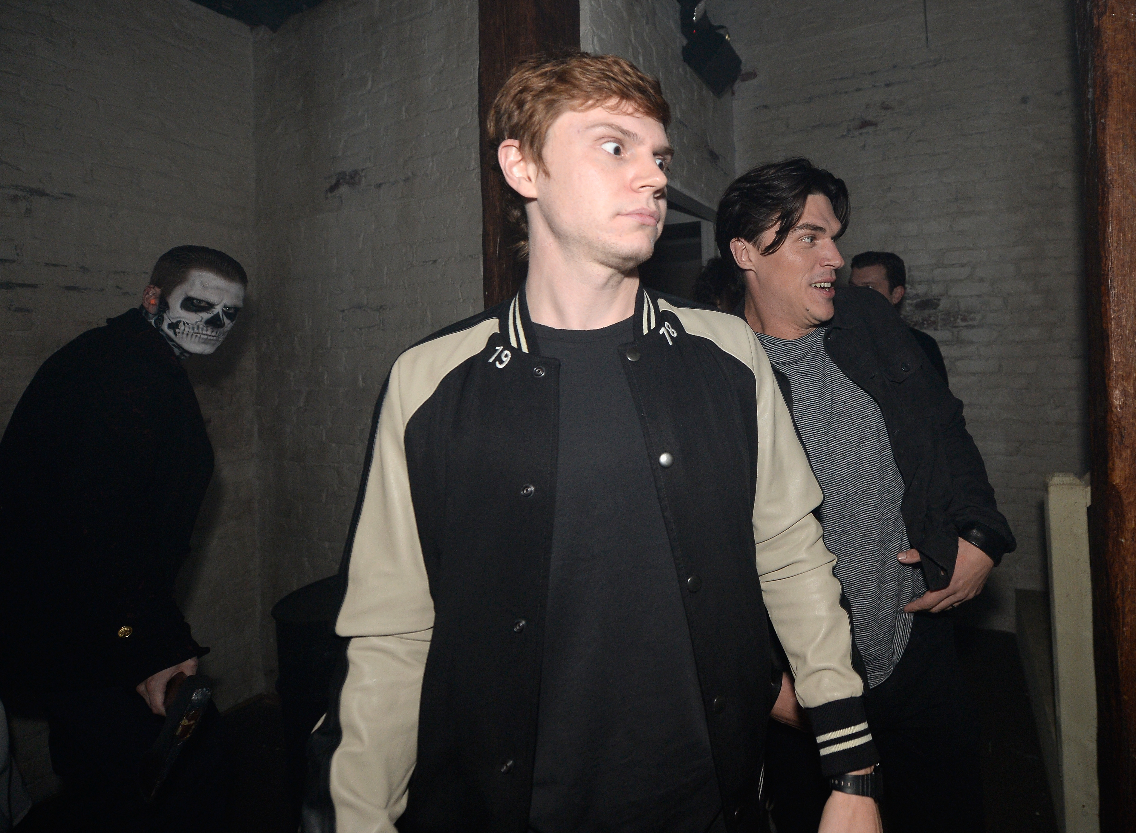 Evan Peters attend Universal Studios 'Halloween Ho