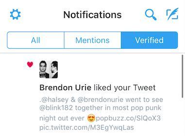 brendon urie liked tweet