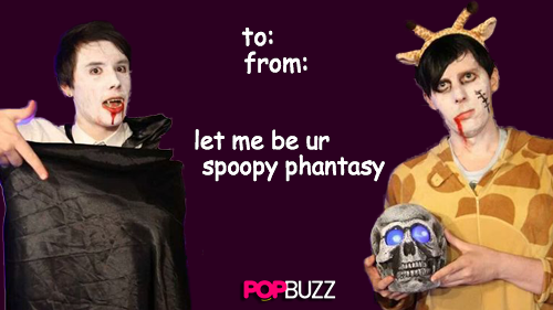 Dan And Phil Halloween Valentines