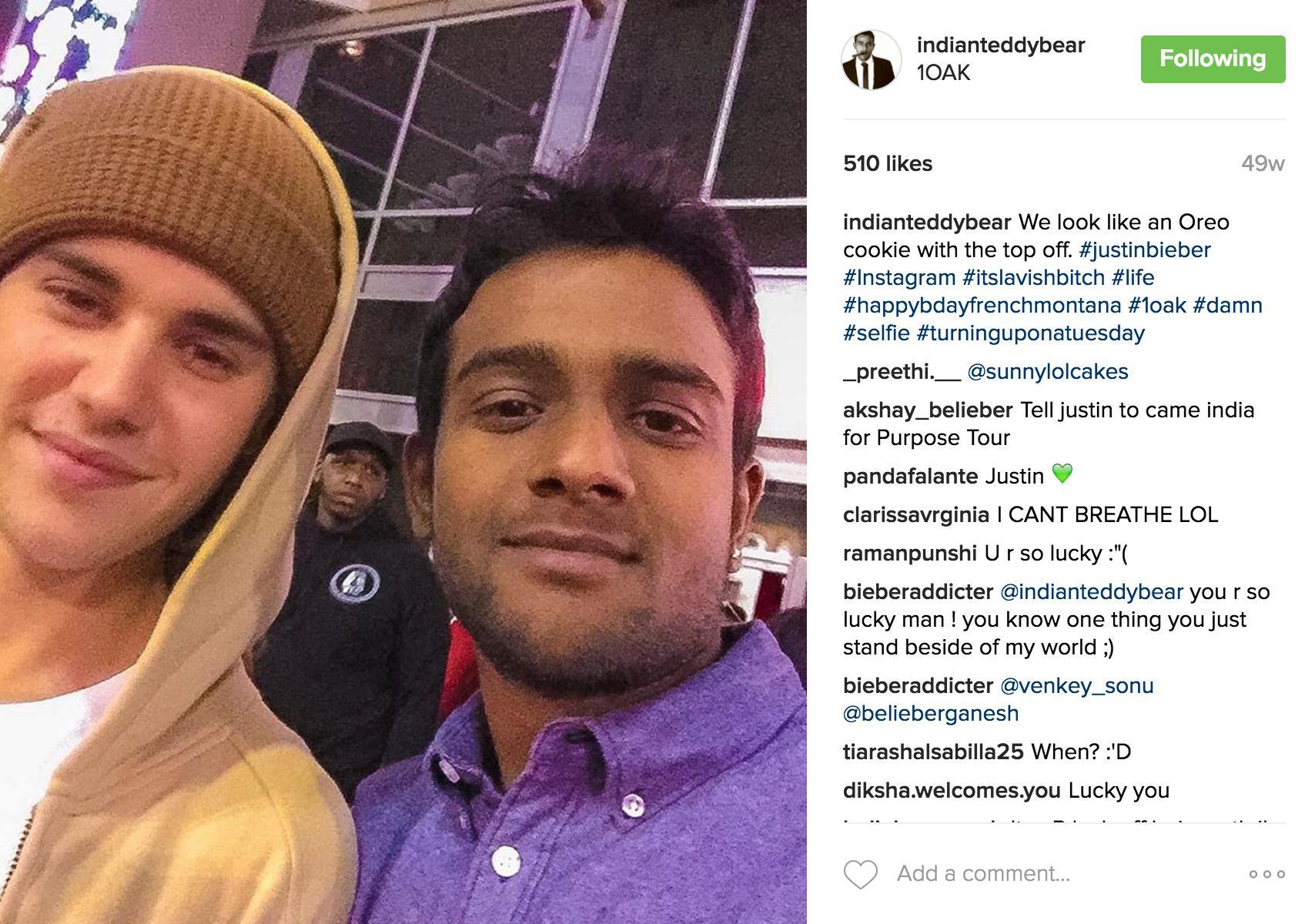 Justin Bieber indianteddybear