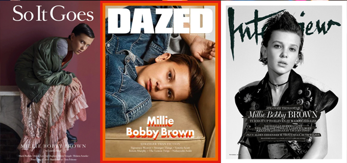 Millie Bobby Brown Magazine Covers