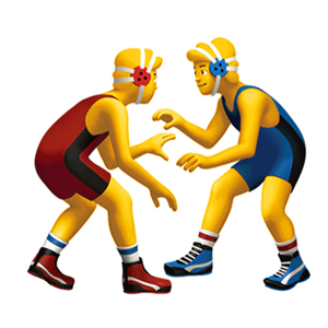 Wrestling Emoji