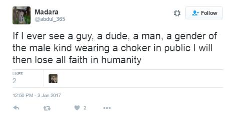 Choker tweet 1