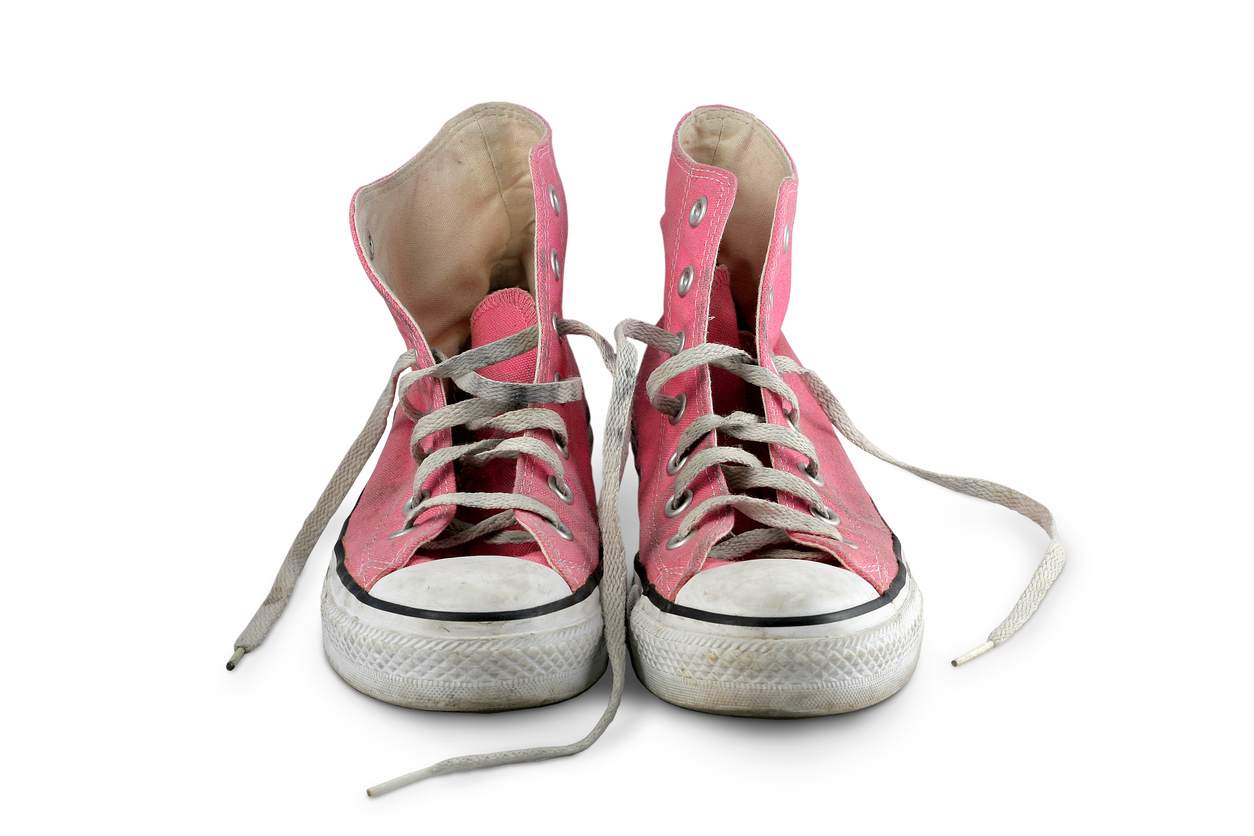 Pink Worn Converse