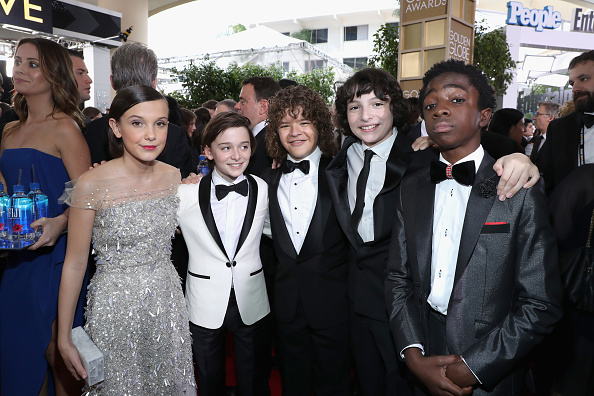 Stranger Things Kids Golden Globes Red Carpet
