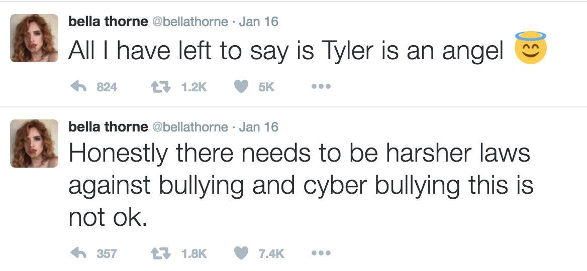 Bella Thorne Twitter