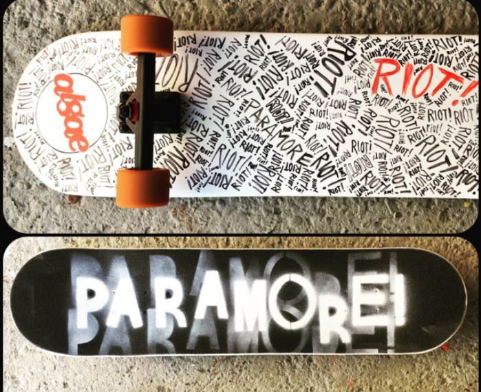 paramore skateboard