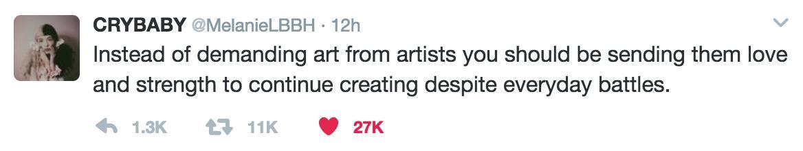 Melanie Martinez Tweet