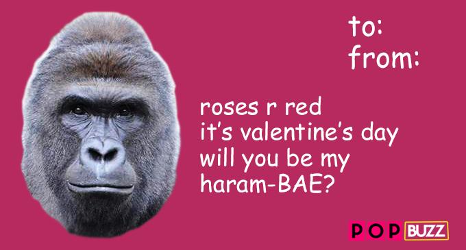 Harambe Valentine's Card