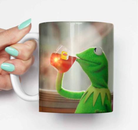 Kermit Sips Tea Mug