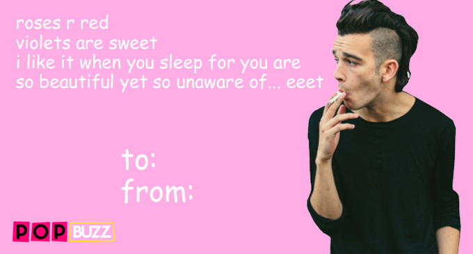 Matty Healy Valentine's Day Card
