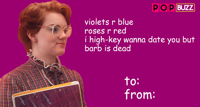 Stranger Things Barb Valentine's Day Card