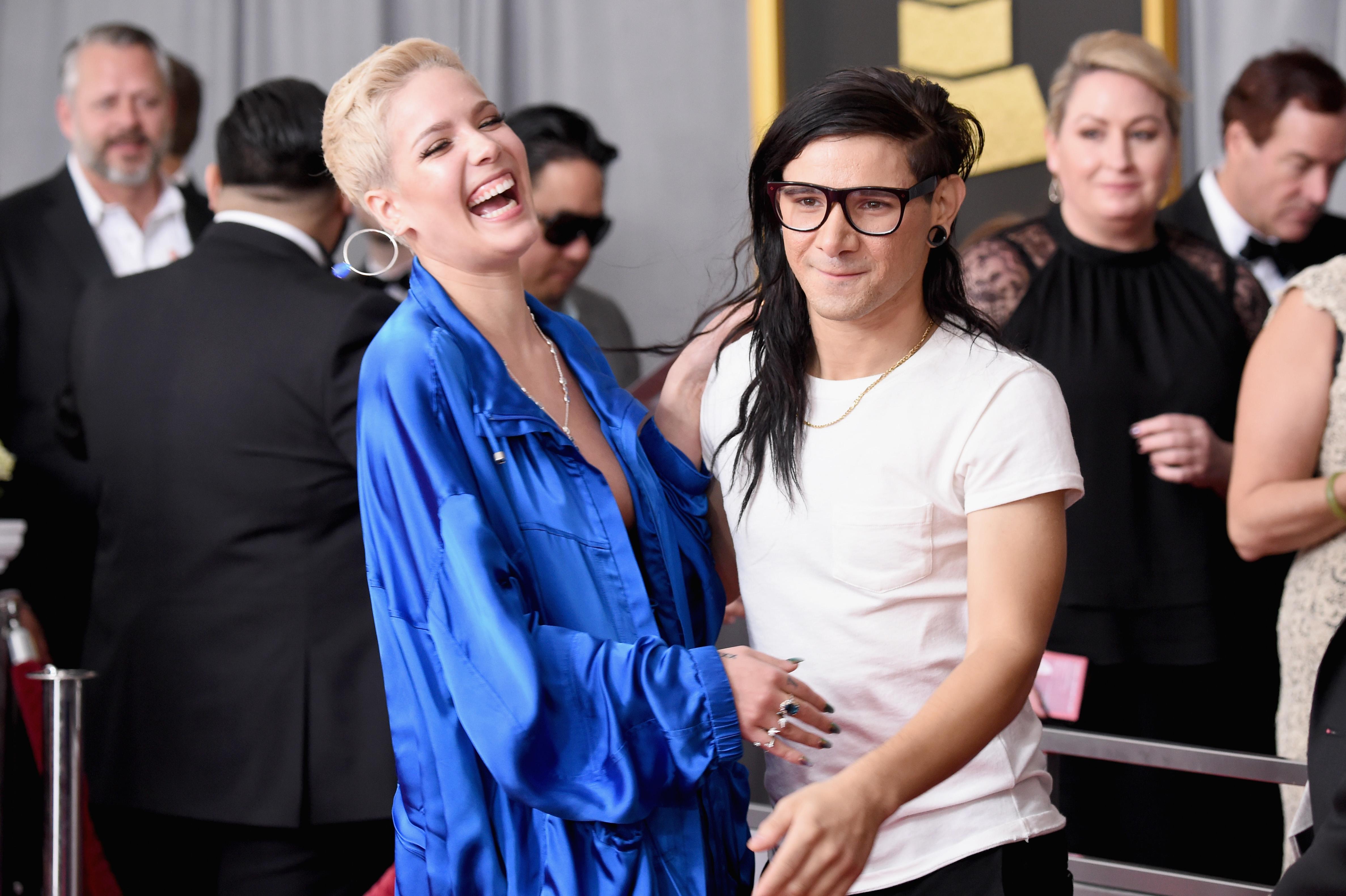 Halsey Skrillex The Grammys 2017
