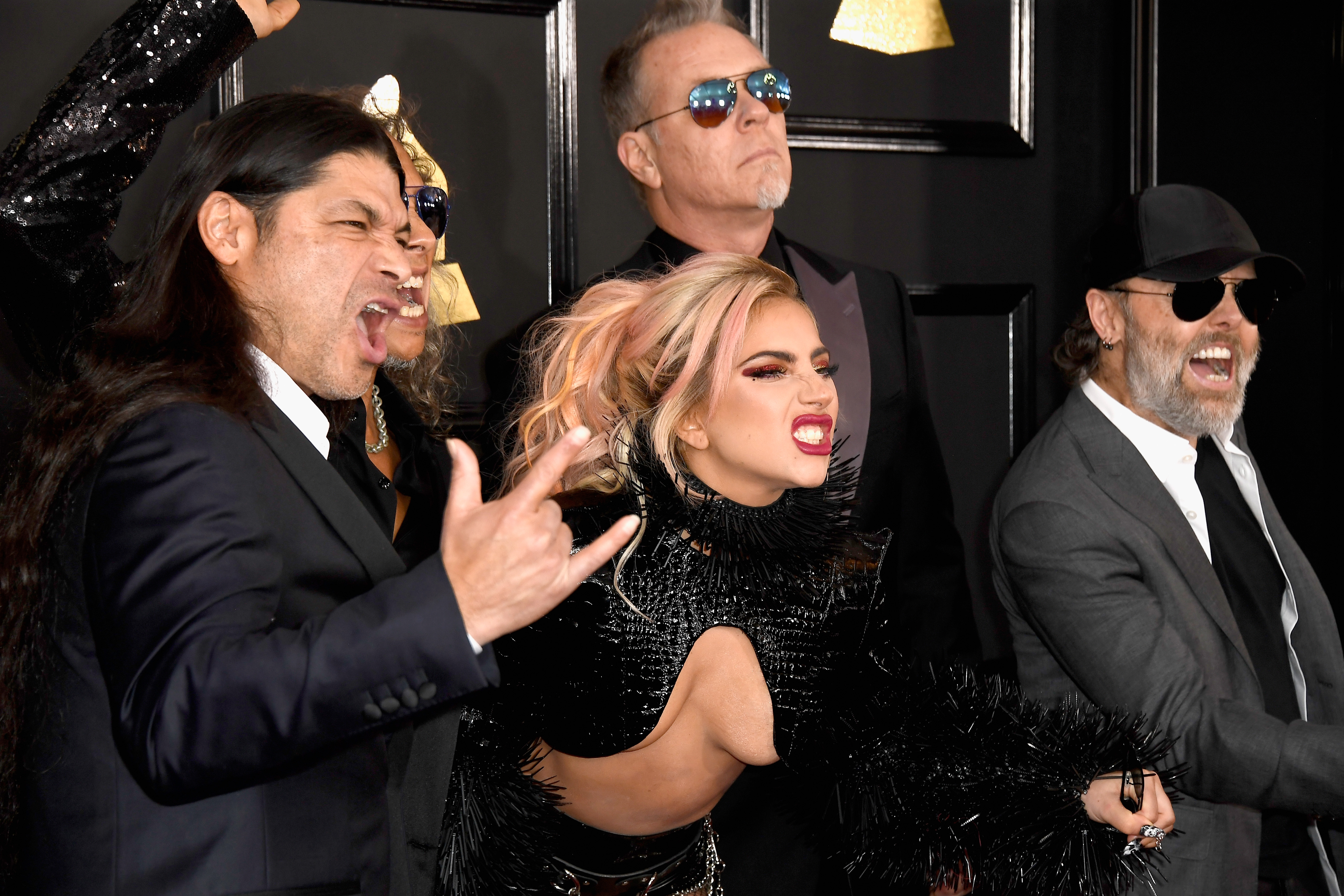 Lady Gaga Metallica The Grammys 2017