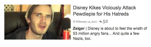 pewdiepie antisemitic headline