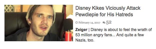 pewdiepie antisemitic headline