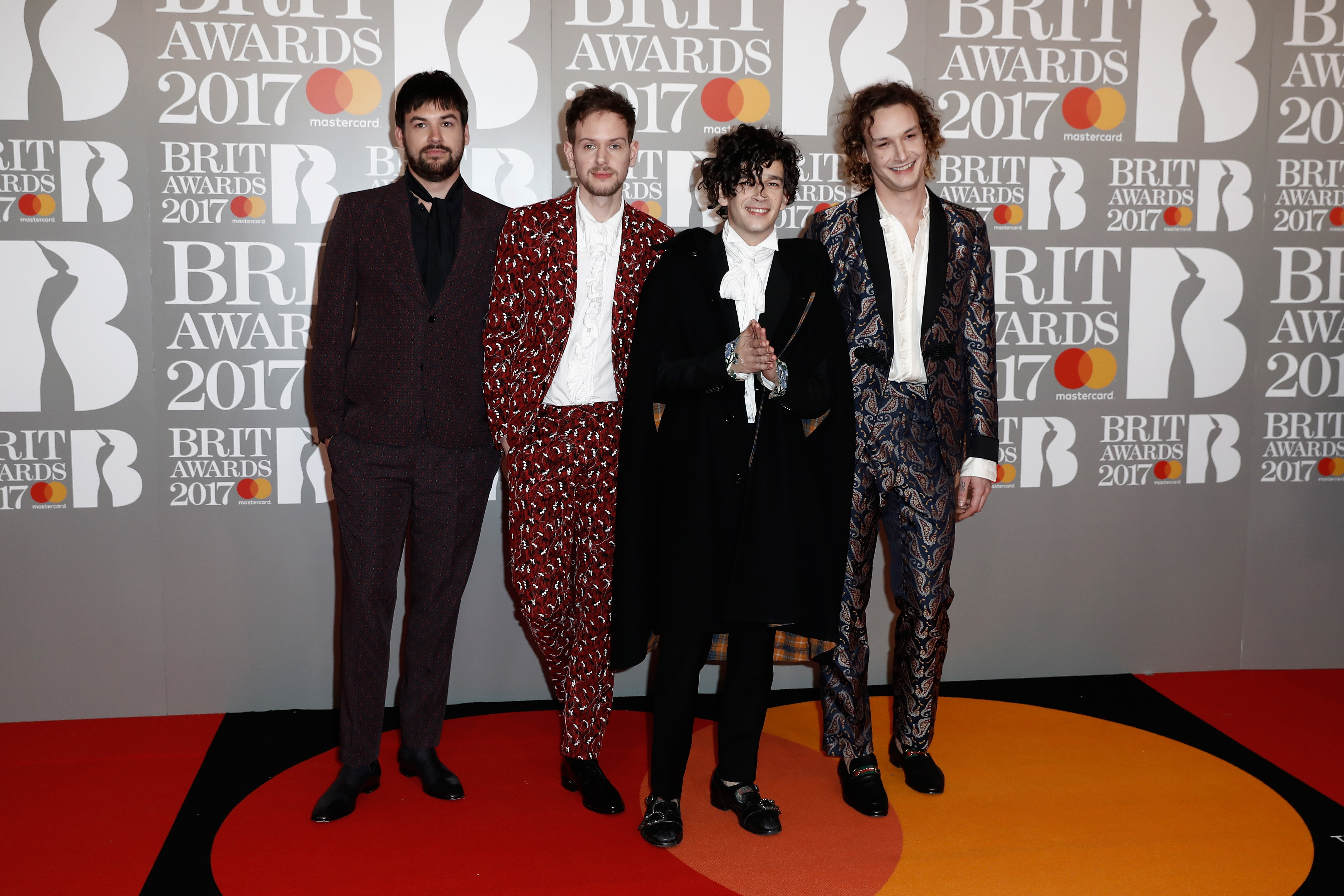The 1975 BRIT Awards 2017 Red Carpet