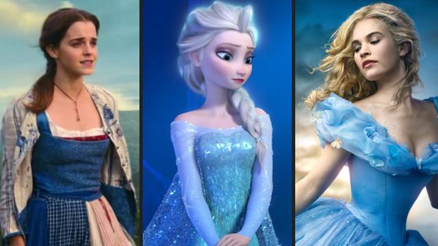Disney Princess Wearing Blue