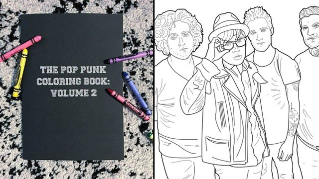 panic at the disco coloring pages There's A New 'Pop Punk Coloring Book' And You're Gonna Want Five  panic at the disco coloring pages