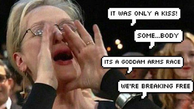 meryl streep shout meme 1490095177 list handheld 0 watch meryl streep shouts all of your fave song lyrics popbuzz