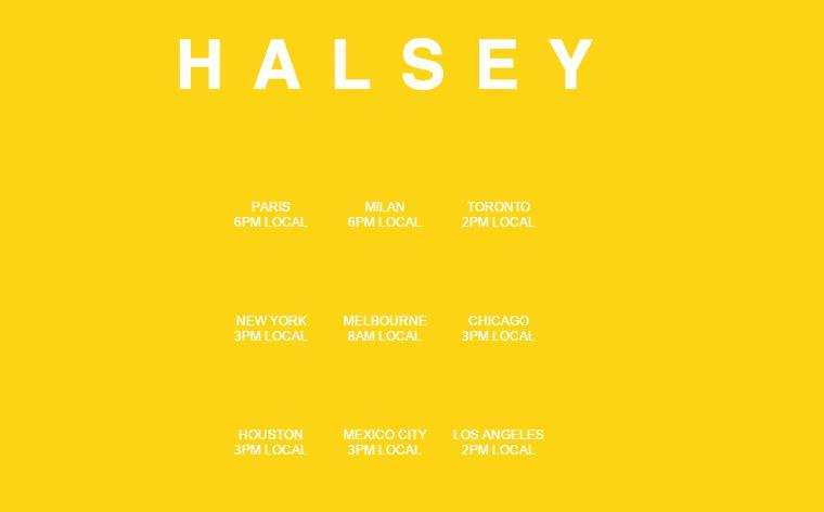 Halsey time zones