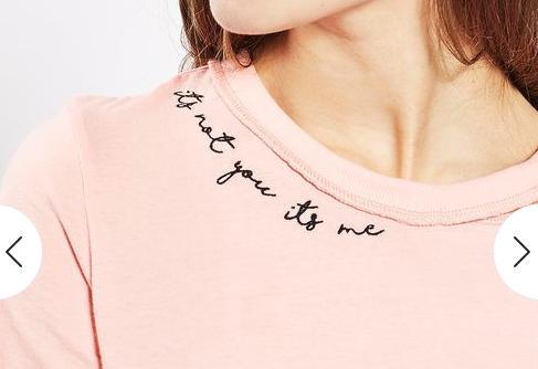 Topshop Typo Tshirt zoom