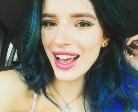 Bella Thorne Blue Hair Extensions