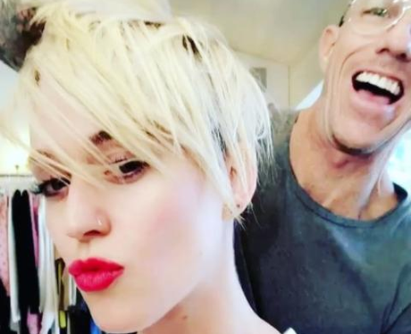 Katy Perry Blonde Pixie Cut