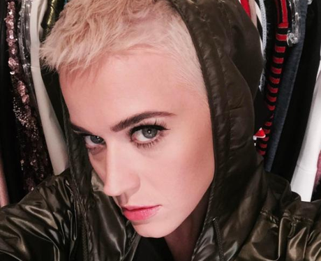 Katy Perry Shaved Head Blonde Justin Bieber