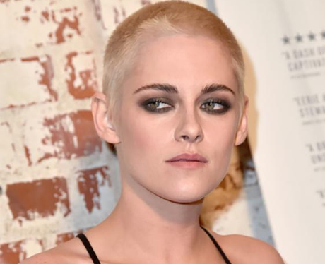 Kristen Stewart Blonde Shaved Hair