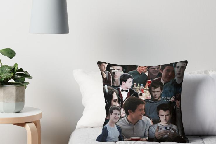 Clay Jensen throw pillow