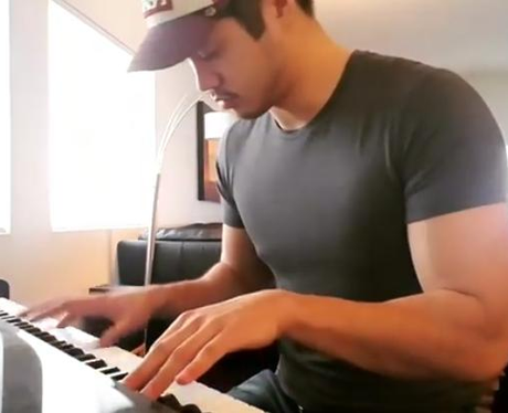 Ross Butler music piano