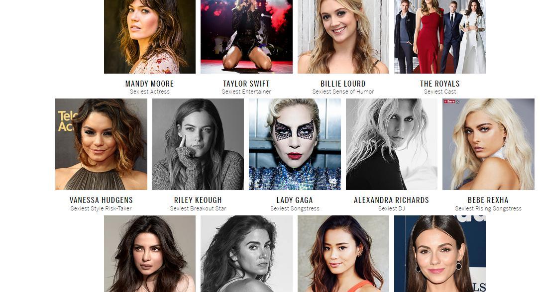 Victoria's Secret sexy list