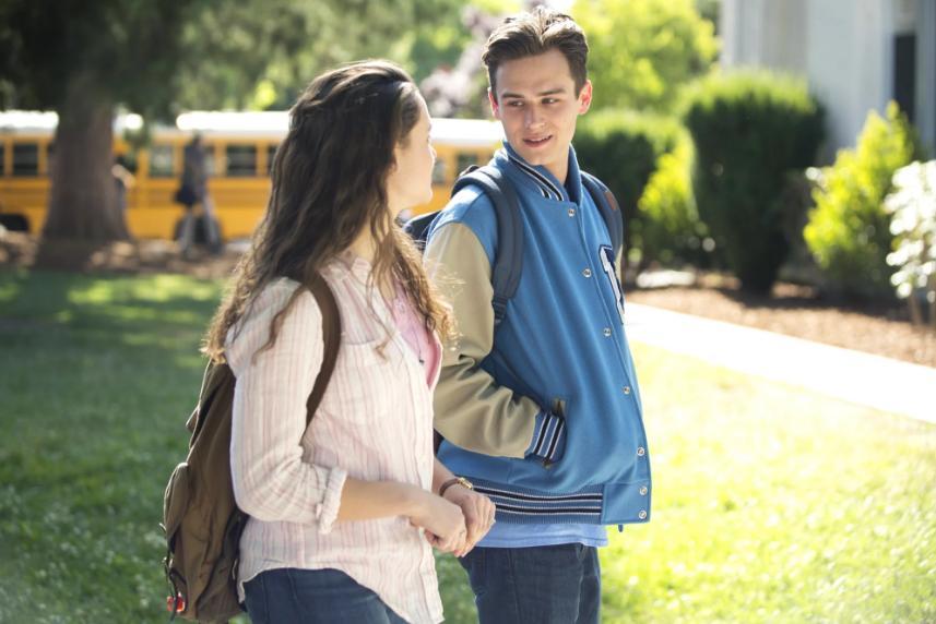 Justin Foley and Hannah Baker