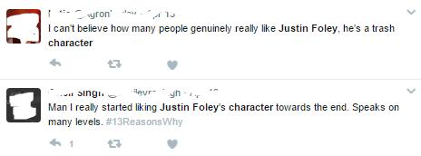 Justin Foley tweets
