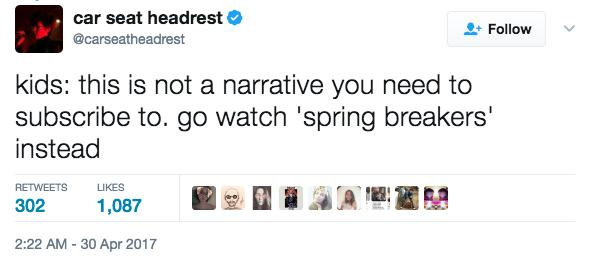 Carseat Headrest 13 Reasons Why Tweets