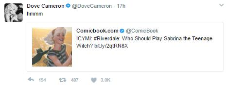 Dove Cameron tweet