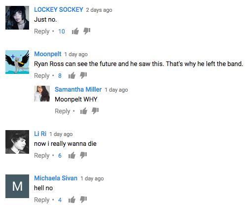 panic, chainsmokers, youtube comments