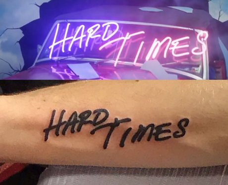 Paramore Hard Times Lyric Tattoo