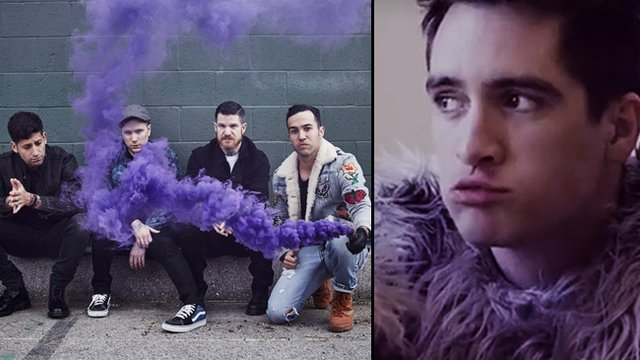 Wait brendon urie on the new fall out boy album popbuzz fall out boy panic at the disco sciox Choice Image