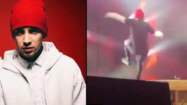 ab3d47e0327f2 Watch Tyler Joseph Fall Over Spectacularly On Stage...  Still Finish ...