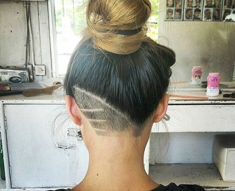 Asymmetric Undercut hidden hair tattoo