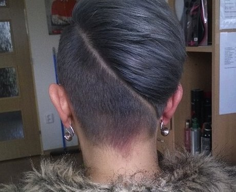 Half and Half Undercut hidden hair tattoo