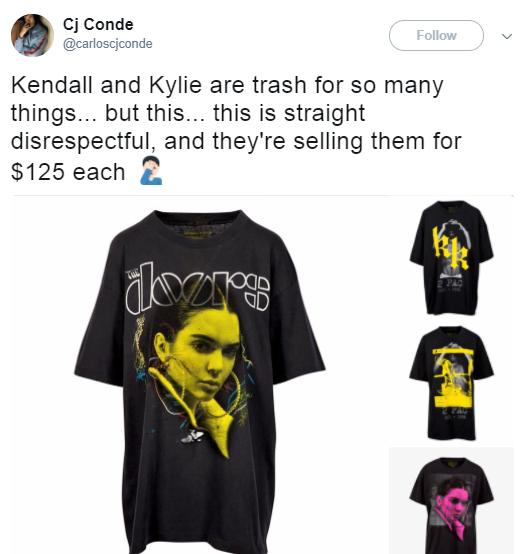 Kendall and Kylie Jenner shirt drama 2