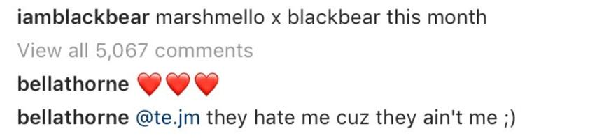 Bella Thorne Blackbear