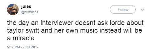 Lorde tweet 1