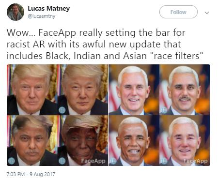 Face App Twitter reactions