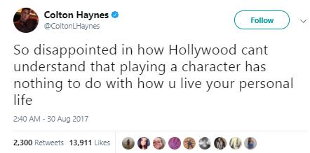 Colton Haynes tweet 3