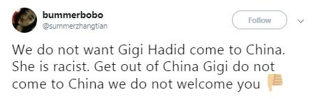 Gigi Hadid Twitter reaction